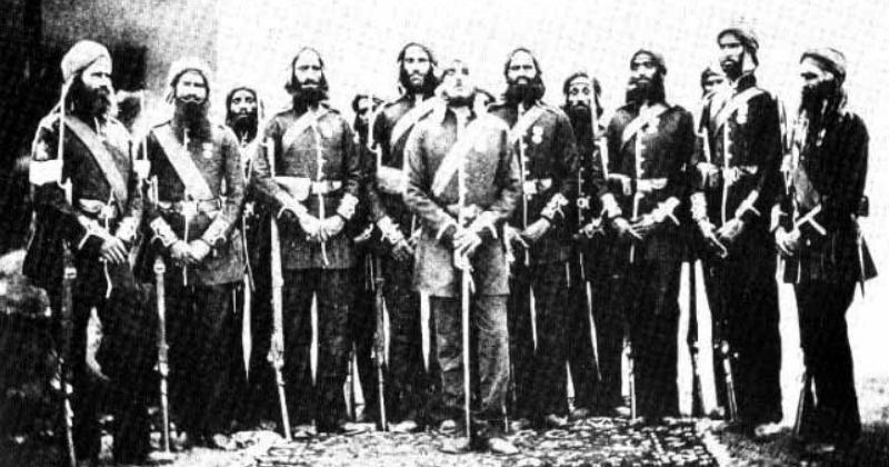 Soldiers of Indian Army's 4th battalion of the Sikh Regiment